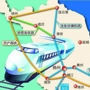 网友建议:北沿江高铁扬州南站设在李典实现京沪二线并站