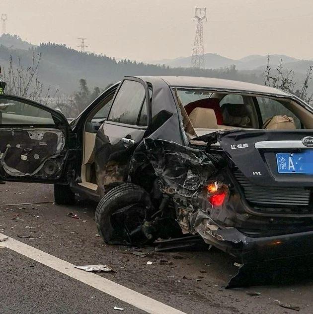 广西一高速路段发生3车连撞事故,3人不幸遇难