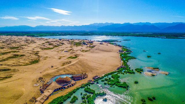 银川沙湖景门口图片