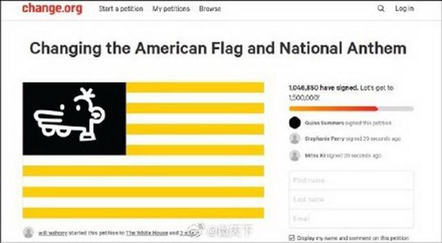星条旗过时了?上百万网民请愿修改美国国旗,他们设计的新国旗长这样