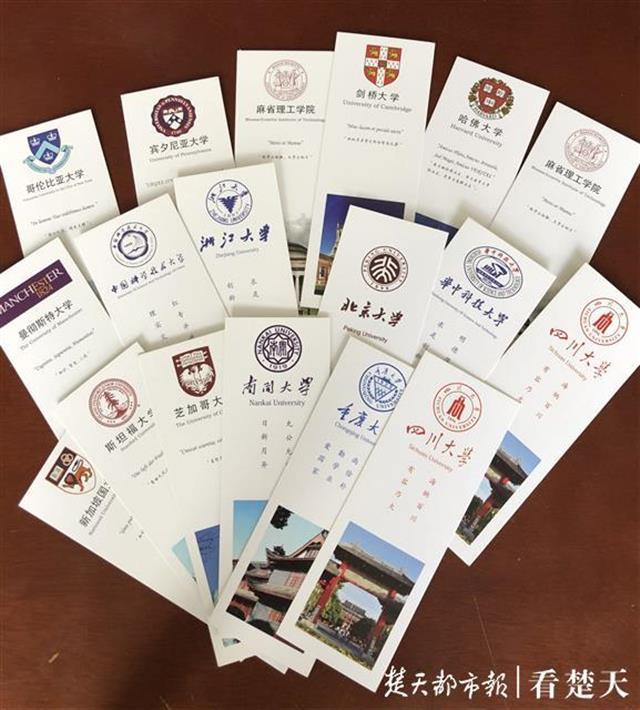 ?初中女生20天手工制作80张卡片,祝福高三学长学姐