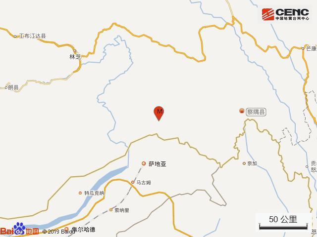 西藏林芝地图