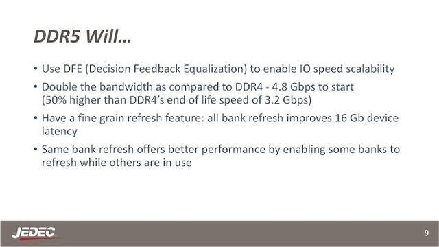 DDR5 内存标准来了:频率、带宽提升,功耗降低