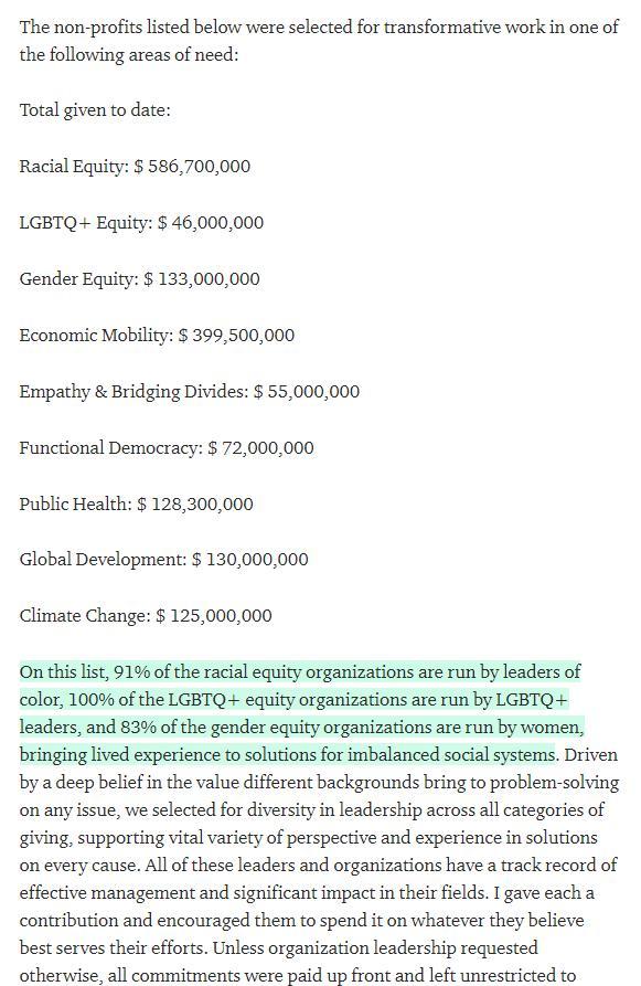 贝佐斯前妻已向黑人、LGBTQ和公共卫生团体捐赠近17亿美元