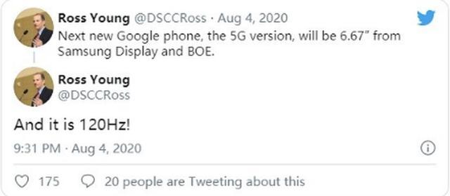 谷歌新手机曝光:6.67英寸,支持120Hz刷新率-第1张图片-IT新视野