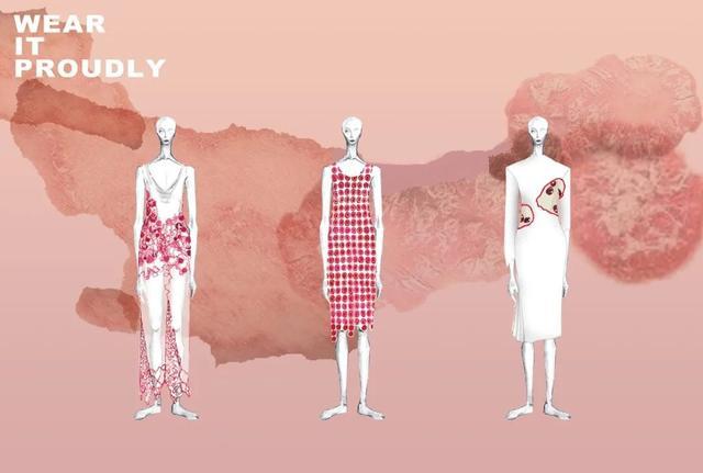 一系列服装设计效果图