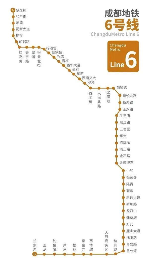 成都6号线详细路线图