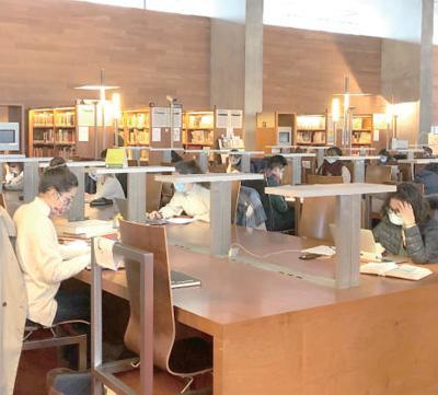 图书馆动漫图片