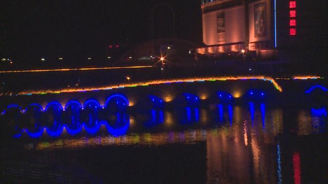 淄博北站夜景图片
