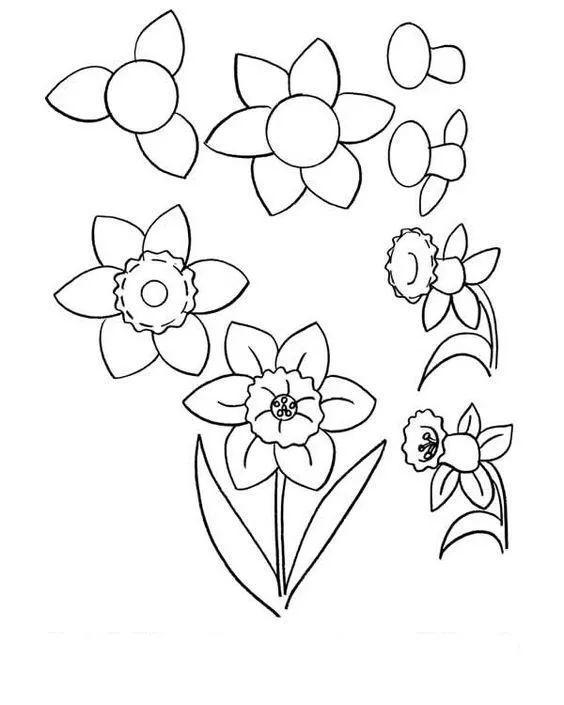 儿童简笔画教程,画4支彩色铅笔,3-12岁小朋友学习画画