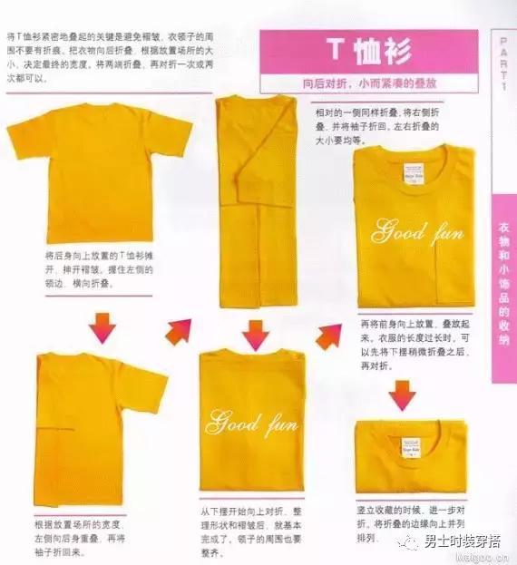 衣服叠法大全 , 各种衣服的折叠方法