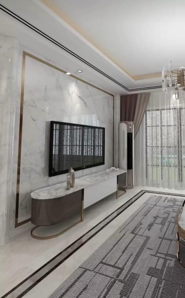 2015年客厅电视背景墙效果图大全 现代简约风格客厅装修