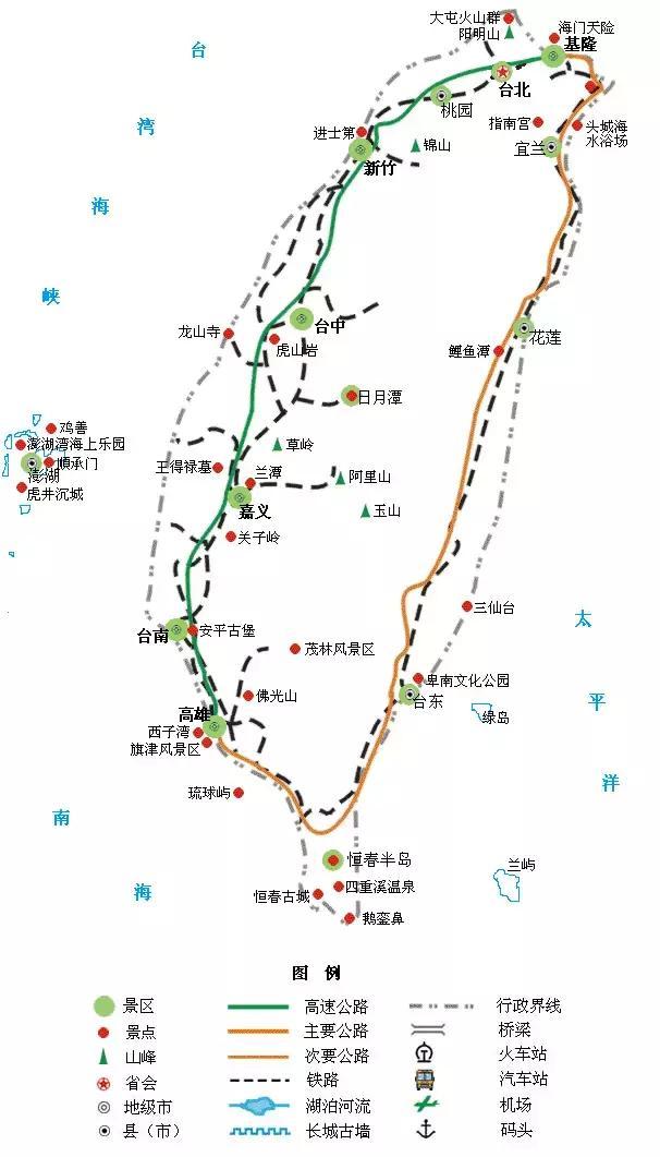 中国34个省级行政区的地图