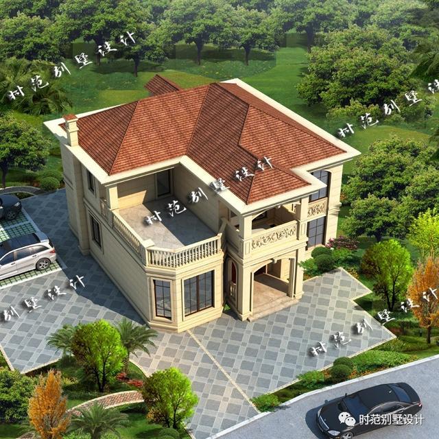 12x13米二层小别墅,5室3厅大露台,适合小宅基地的朋友自建