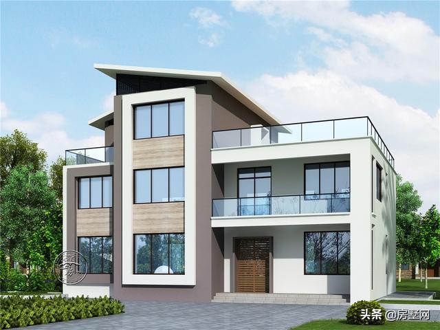 别墅设计:两层半现代风格别墅设计,南方农村这样的比较实用