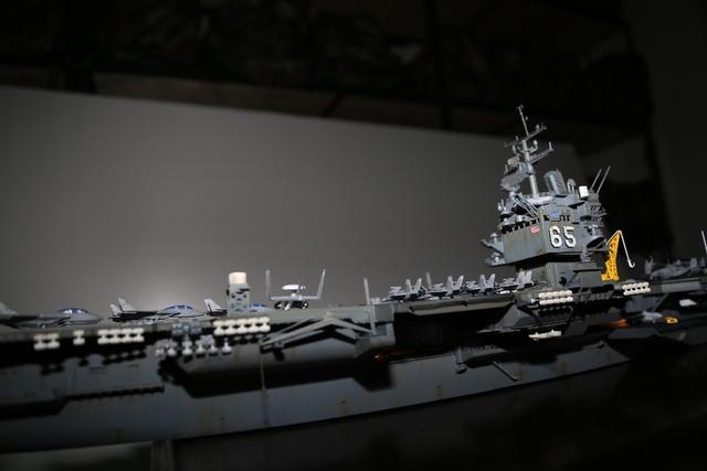 720美国罗斯福号航空母舰拼装航母模型战舰船模-... -7788收藏