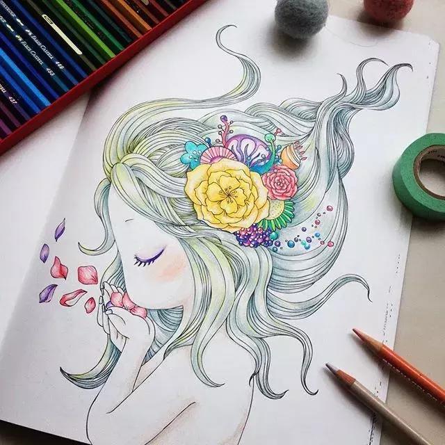 优秀彩铅手绘作品欣赏_武汉美术网