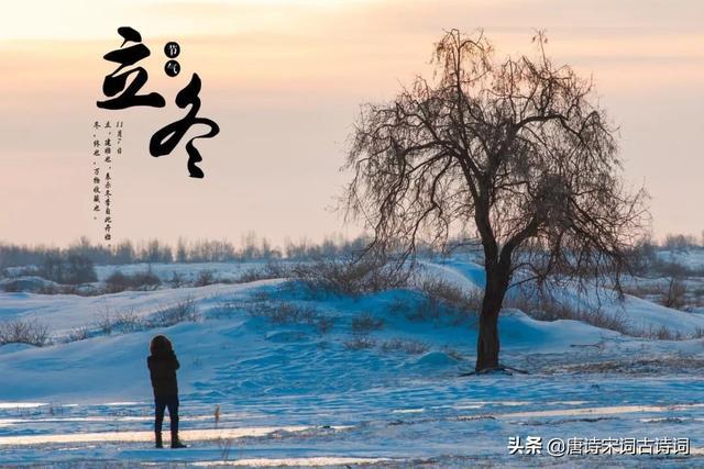 立冬的古诗配画