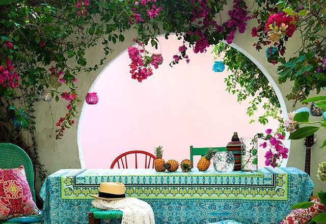 美丽庭院绘画图片