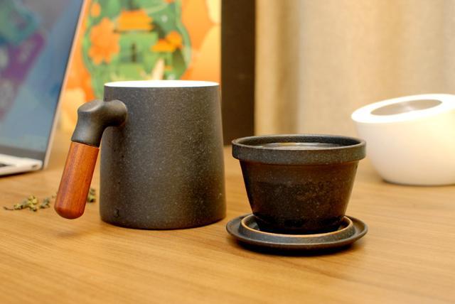 富光茶水分离玻璃杯