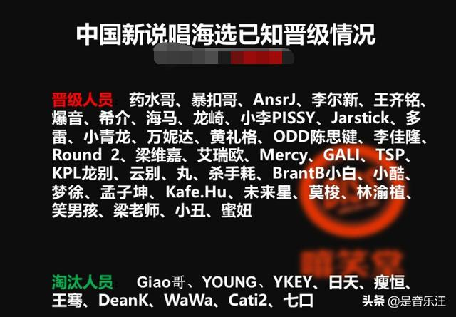 """《中国新说唱》晋级名单,又是一年""""神仙打架"""",比预想中还要顶"""