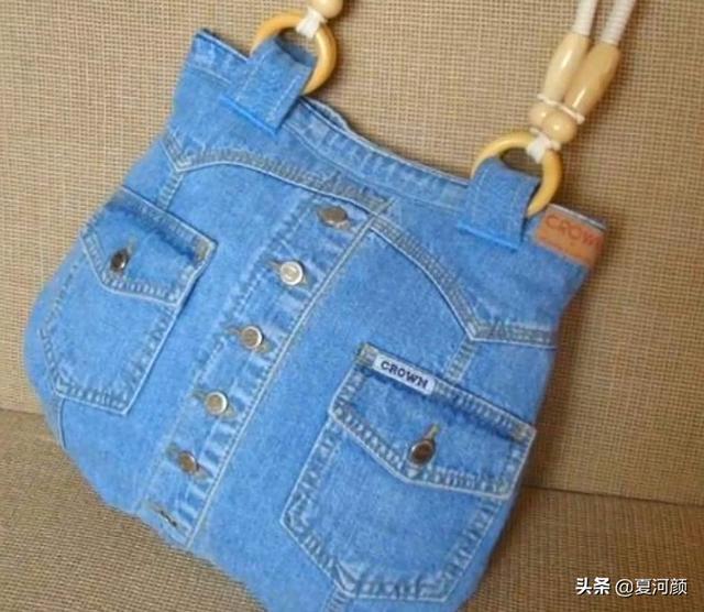 变废为宝如此简单!用旧衣服手工做的包包最好看,省钱而且环保