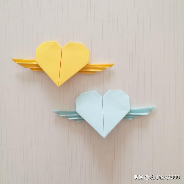 爱心折纸教程图解步骤