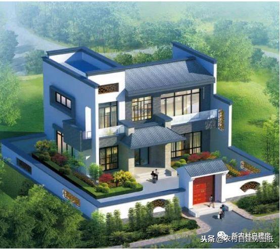 100平米农村二层半楼设计图及效果图10x10 - 平顶房... _新浪博客