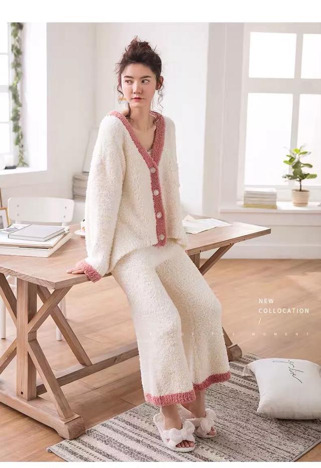 睡衣女春秋季长袖套装