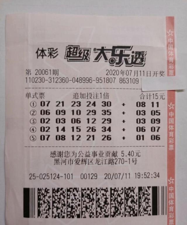 """太幸运啦!""""95后""""小伙第一次买彩票就中1800万元"""