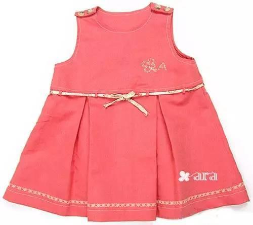 女童连衣裙的制作教程(附:裁剪图)