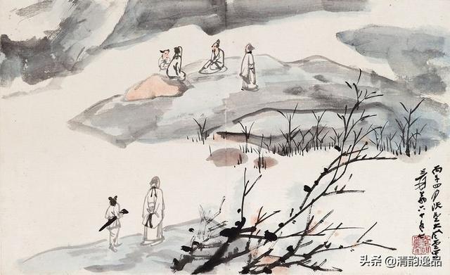 张大千山水画作品选(高清版)