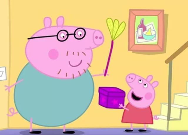 小猪佩奇动猪爸爸图片