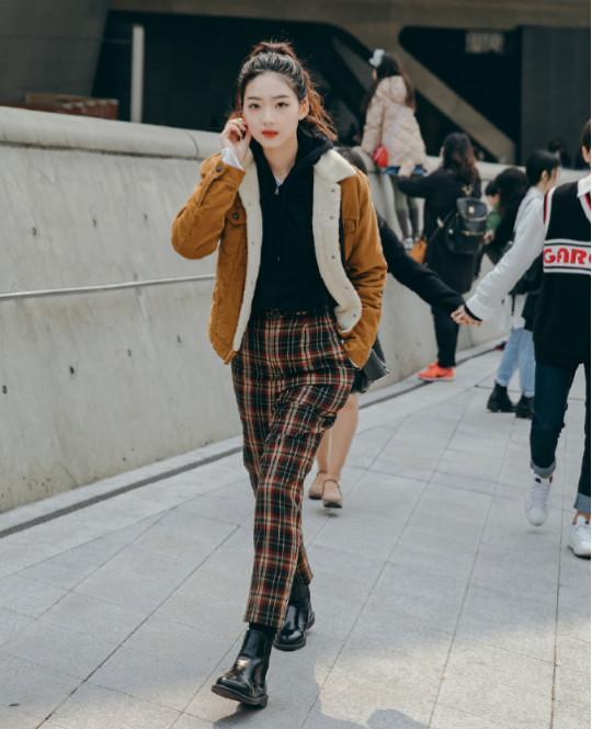 格子格纹长毛呢大衣【多图】_价格_图片- 天猫精选