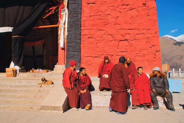 我的西藏游记第四天,最美公路熊猫大道,满山红遍的五明佛学院