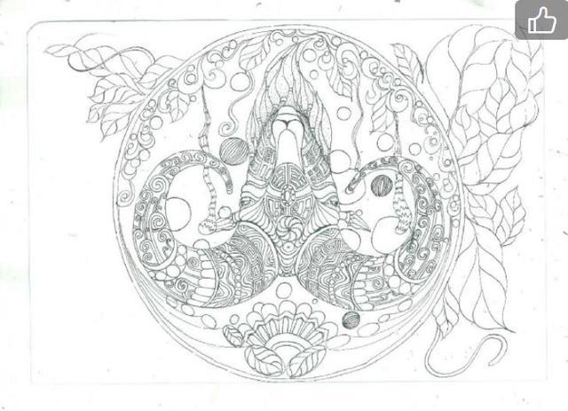 创意线描画课件教程,点线面的黑白线描装饰画!