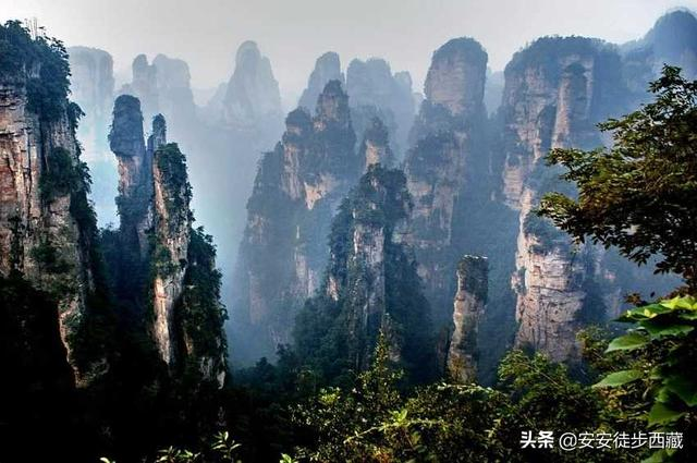 奇峰峻岭交叠的张家界,原来是4大自然风景区合并而成
