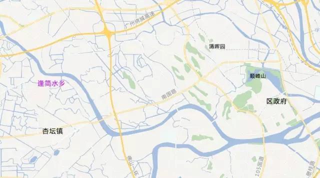 逢简水乡地图