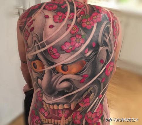 纹身素材——日式面具