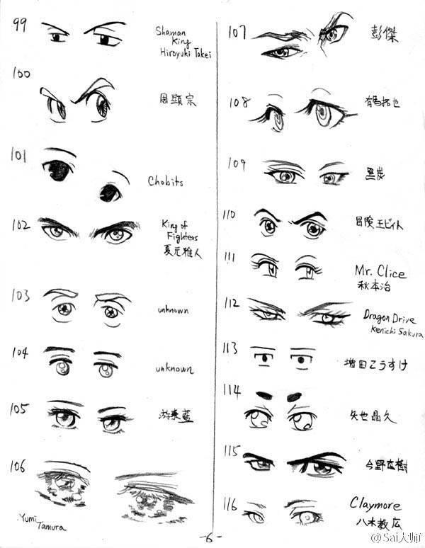 300款动漫眼睛绘画参考素材!收着练习吧!