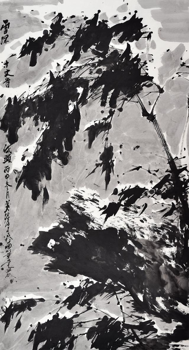 水墨画欣赏之竹子--当代唯美的水墨竹子国画一_天极网