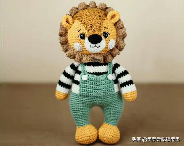 手工编织创意狮子玩偶,可爱的毛线动物织个做挂件回头率好高