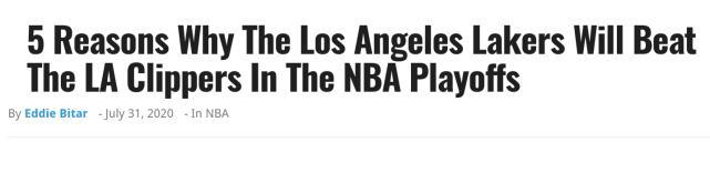 湖人季後賽仍能擊敗快艇?美媒列出五大理由:詹皇一眉哥仍是最強雙人組!-黑特籃球-NBA新聞影音圖片分享社區