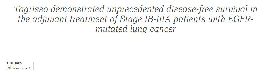 明星抗癌药奥希替尼进军肺癌辅助治疗,疾病复发/死亡风险降低83%