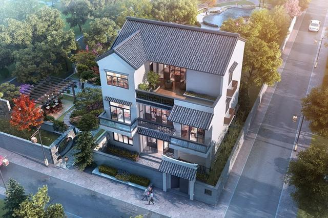 占地120平两层半新中式别墅设计图纸