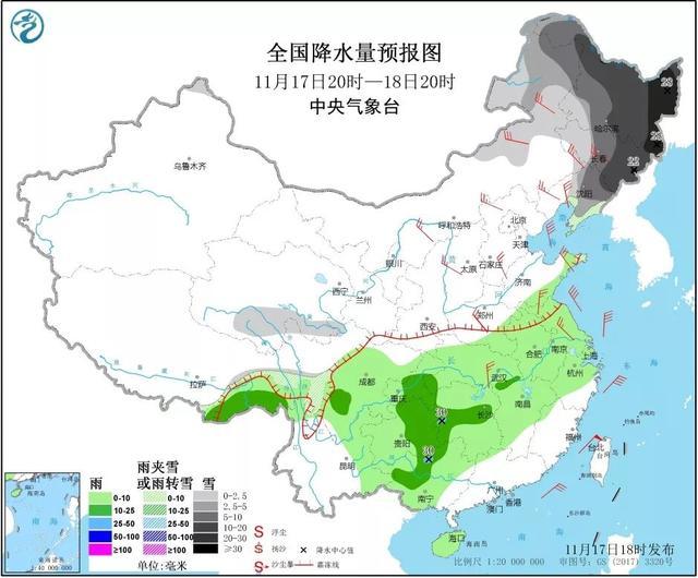 中央台七天降雨量预报
