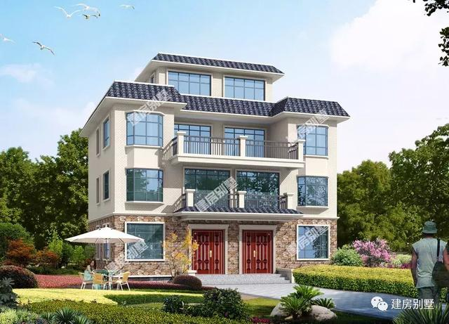 4款双拼农村建房别墅,户型选的好,兄弟和睦父母乐呵呵
