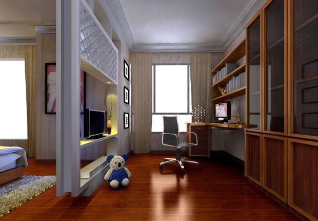 阳台改书房效果图 小户型书房装修案例_装修保障网
