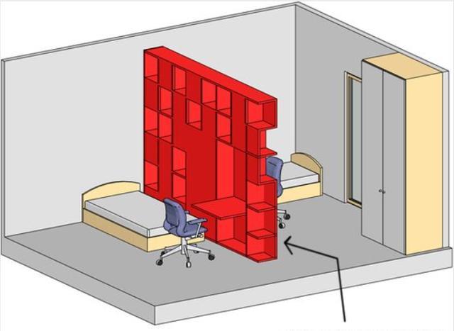 男女二胎房间设计图