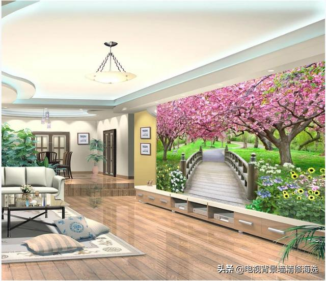 2018流行5D电视背景墙,让客厅高端大气有品味,尤其第6款寓意好
